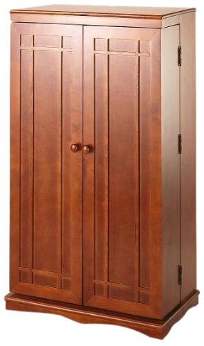 Beau Leslie Dame CD 612W Solid Oak Multimedia Storage Cabinet With Classic  Mission Style Doors,