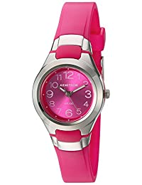 Armitron Sport Women's 25/6418MAG Easy To Read Dial Magenta Resin Strap Watch