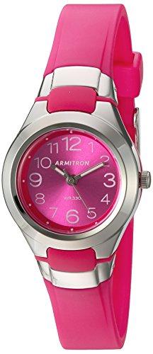 Armitron Sport Women's 25/6418MAG Easy To Read Dial Magenta Resin Strap Watch