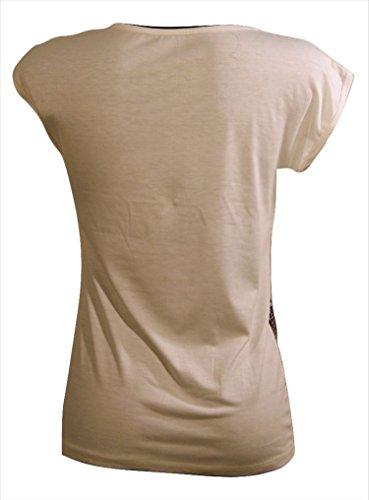 Manica S Abbigliamento In unica Donna T Con Stampa shirt Tg Italy m Giallo Made Mezza wwPEpY