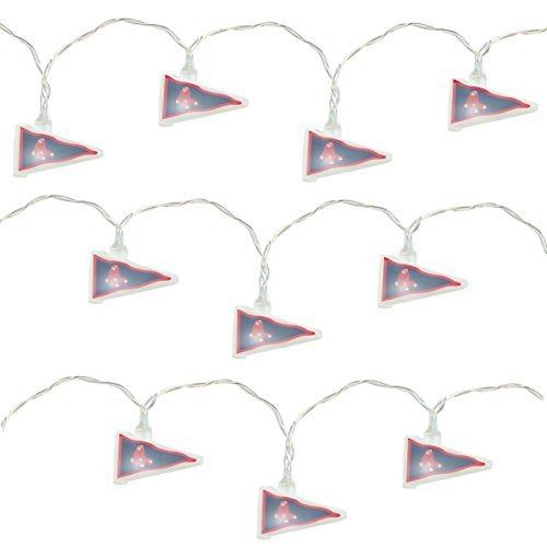 Mlb Baseball Night Light (MLB Boston Red Sox LED Pennant Party Lights)
