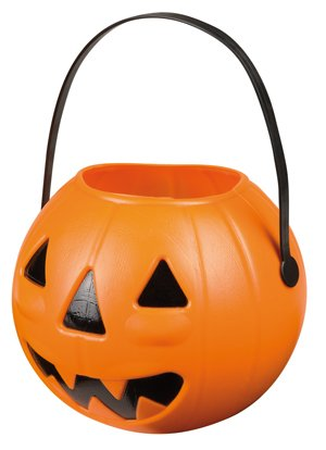 Boland 74482 - Trick or Treat Pumpkin Halloween Basket, 14 x 17 cm]()