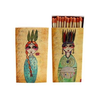 World Buyers Decorative Matches,Native Princess, Set of 2