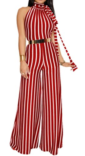 Beloved Womens Summer Jumpsuits Elegant Button Loose Long Wide Leg Jumpsuits Romper 2 Xs