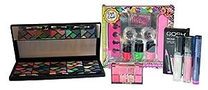 makeup kit for teenage girls. complete make up and diy nail art kit bundle for teenage girl \u2013 4 items eyeshadow palette lip gloss makeup girls
