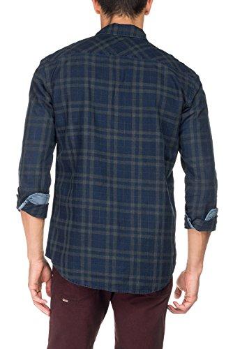Salsa - Chemise à carreaux avec devises et deux poches sur le devant - Homme