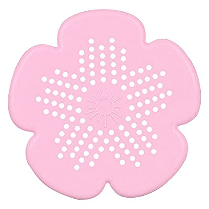 New Cherry Blossom Sewer Drainage Filter Bathroom Sink Kitchen Plug Anti-blocking Sewage Covers Floor Covering Hair Filter Blue Bathroom Fixtures