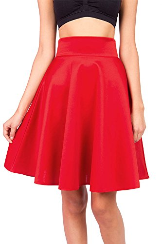 pink-ice-womens-juniors-classic-stretchy-midi-skater-skirtred-s