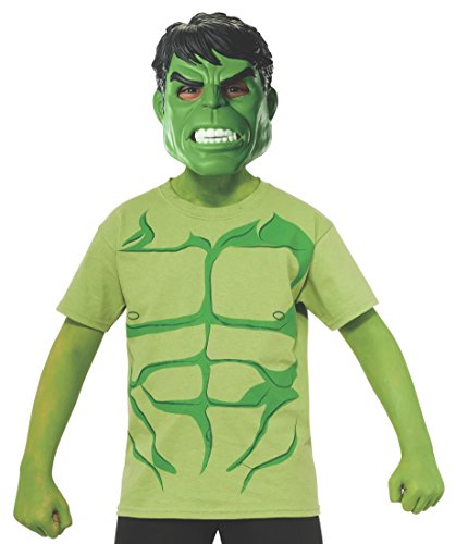 Marvel Avengers Assemble Incredible Hulk Costume T-Shirt with Mask, Small]()