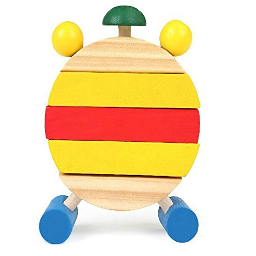 PerfectPrice Hand Made Wooden Clock Toys for Kids Learn Time Clock Educational Toys