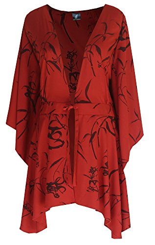 Plus Size Clothes | Women's Kimono Sleeve Cardigan | Handmade by Us, O/S (1X-3X)