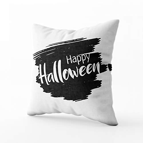 Capsceoll Bed Pillow Covers, Halloween Spooky Holiday Design with Greeting Card Invitation Poster Sofa Throw Pillows Case Covers,Home Decoration Pillow Cases Zippered Covers Cushion for Sofa Couch ()