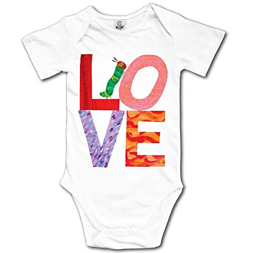 Ghhpws Love from Very Hungry with Caterpillar Baby's Boy's/Girl's Short Sleeve Comfortable Toddler Bodysuit White Size 24 Months (The Very Hungry Caterpillar Activities For Toddlers)