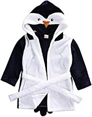 Glosun Baby Coral Fleece Bathrobe Toddler Kids Hooded Terry Robe Cartoon Animal Pajamas Sleepwear Bath Wrap
