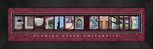Bold Border Big (Prints Charming Letter Art Framed Print, Florida State-Florida State, Bold Color Border (CLAL1B22FSUN))