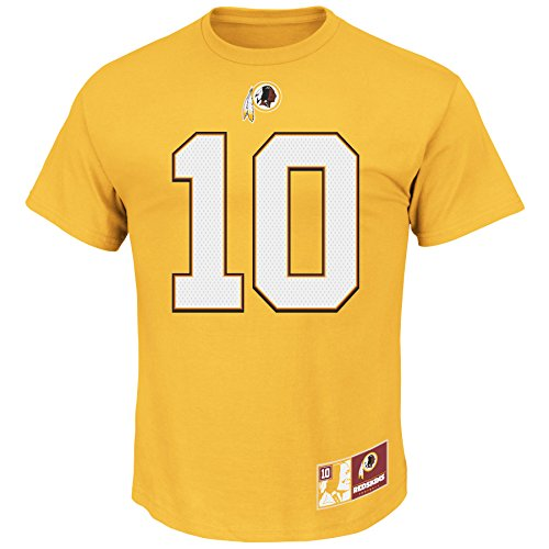Robert Griffin III RG3 #10 Washington Redskins NFL Men's Eligible Receiver II T-shirt - Gold (Xlarge)