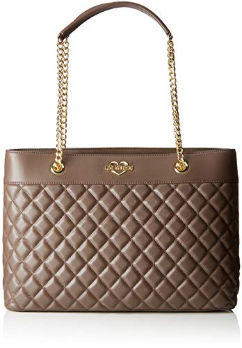 - Love Moschino Borsa Quilted Nappa Pu, Women's Tote, Grey (Taupe), 12x26x39 cm (B x H T)