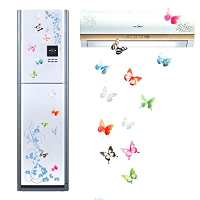 18pcs 3D Butterfly Sticker Art Design Decal Wall Stickers Home Decor (Mix Color (18pcs))