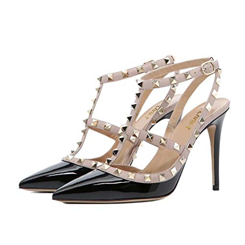 103eb1df926 Chris-T Women Pointed Toe High Heels Studded Strappy Slingback Stilettos  Leather Sandals Pumps 4-14 US - Buy Online in KSA. Shoes products in Saudi  Arabia.