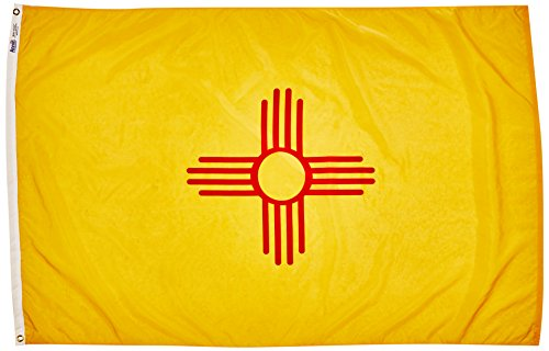 Annin Flagmakers Model 143770 New Mexico State Flag Nylon SolarGuard NYL-Glo, 4x6 ft, 100% Made in USA to Official Design Specifications