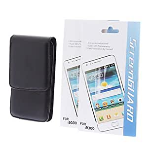PEACH-PU Leather Full Body Case and 2 Screen Protector for Samsung Galaxy S3 I9300