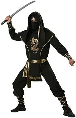 Guerrero Ninja Disfraz Negro Oro: Amazon.es: Juguetes y juegos