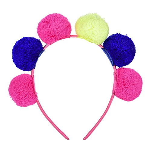 Floral Fall Girls Cute Candy Color Cat Ear Costume Headband Party Headpiece Photo Props HD-21 (Fuchsia Blue Yellow) -