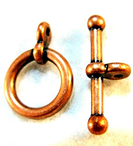 - 50Sets Wholesale Tibetan Antique Copper Round Toggle Clasps Hooks Q0736 Jewelry Making Supply Pendant Bracelet DIY Crafting by Wholesale Charms
