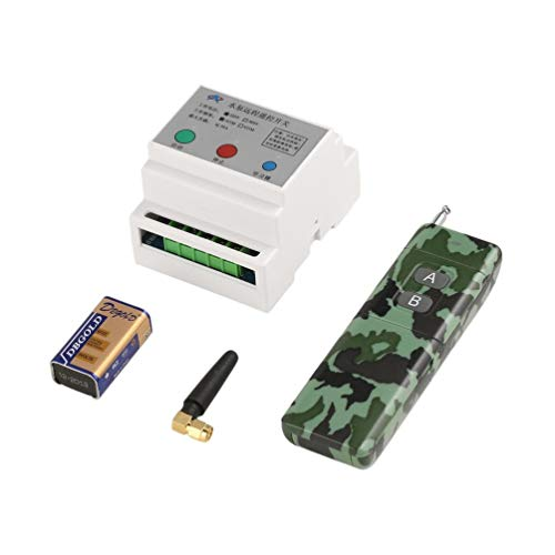 DC 220/380V High Power 433Mhz Wireless Remote Control Switch Kit for Water Pump RC Regulation with 2-Key Remote Controller