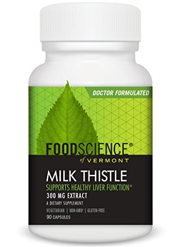 - FoodScience of Vermont Milk Thistle, Liver Support Supplement, 90 Capsules by FoodScience of Vermont