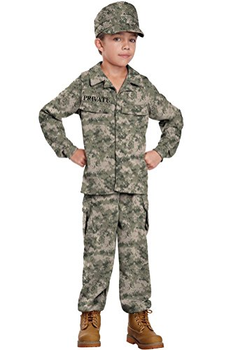[POPLife Army Navy Marine Air Force Military Soldier Child Costume] (Red Coat Army Costume)