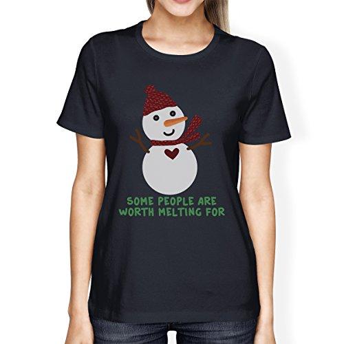 Camiseta manga derretir para para Un que pena nieve o mujer mu Printing 365 la corta vale de tama mujeres eco de q5tavp