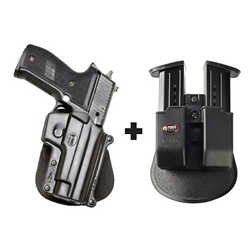 P228 Spring (Fobus SG-21 Paddle Conceal Concealed Carry Holster Sig/Sauer P220, P226, P227, P228, P245, P225. SAR B6 + 6909 ND Double Magazine Pouch)