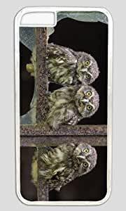 Cute owl animal Easter Thanksgiving Masterpiece Limited Design PC Transparent Case for iphone 6 by Cases & Mousepads