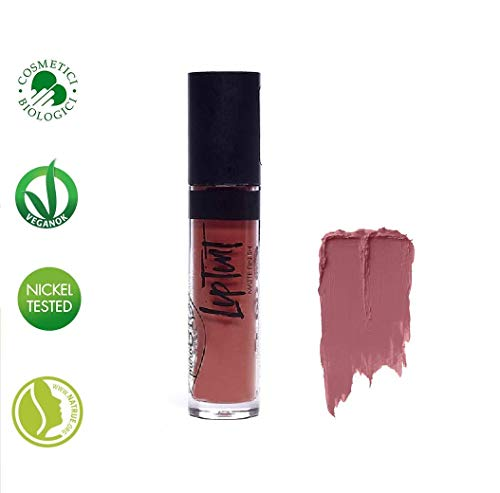 PuroBIO Certified Organic Intense and Long-Lasting Matte Liquid Lipstick with Cocoa Butter, Calendula Silica, Rice - Color 04 DARK RASPBERRY. Organic. Vegan. Nickel Tested. Made in Italy, 4ml ()