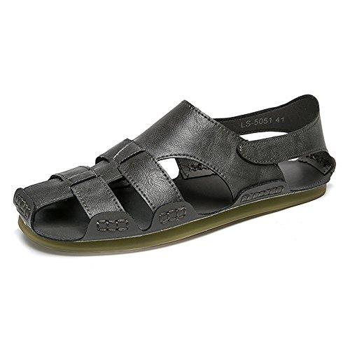 Color 40 uomo pelle estivi da Size EU 3 da 2 Gray spiaggia da da pescatore sportivi all'aperto spiaggia Sandali Sandali Gray Sandali in scarpe HAEawqa0