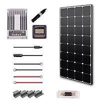 RENOGY® Premium Solar Panel Kit 100W Monocrystalline Off Grid: 1pc 100W Mono solar panel UL Listed+ 20A MPPT Charge Controller+ MC4 20ft Adapter Kit+ Mounting Z Brackets