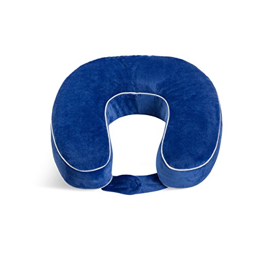 World's Best Cushion-Soft Memory Foam Neck Pillow,