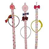 Hixixi 3 PCS 32'' Long Ribbon Headband Hair Clip Hair Bow Holder Storage Organizer for Girls