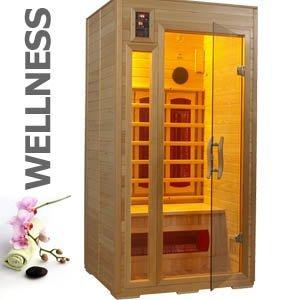 Super 12656 hochwertige 1-2 Personen Infrarot Wärmekabine Sauna ca  NA55