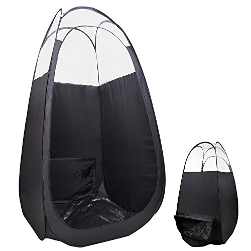 "AW Pop Up Black Airbrush Sunless Spray 45x45x83"" Tanning Tent Booth Air Vent Clear Top Mobile w/Bag"