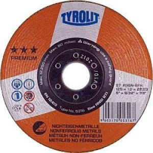 Profesional Premium calidad Pack de 5 x Ultra Fino de 125 mm x 1 mm amoladora de á ngulo Circular saw- Stainless Steel Cortes Dics –  corte discos de corte de metal Tyrolit