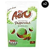 Nestles Aero Bubbles Peppermint Chocolate Pouch 102g x2 - UK Chocolate Candy.