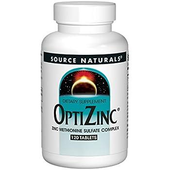Source Naturals OptiZinc 30mg Zinc Methionine Sulfate Complex - High Potency - 120 Tablets