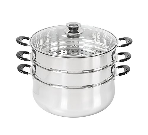 30 CM Stainless Steel 3 Tier Steamer Pot Steaming Cookware by Concord (Steamer Stainless)