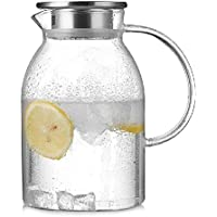 sfdh Glass Tea Pot Heat-Resistant Health Pot Filter Tea Pot Transparent Cool Water Pot
