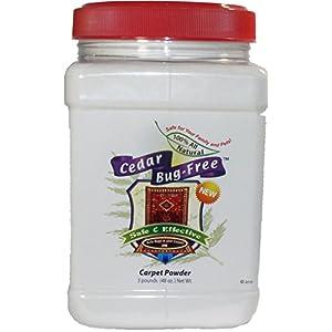 Flea Powder for Carpets - Cedar Bug-Free Carpet Powder Kills Fleas, Ticks and Bed Bugs - 3 pounds by Cedar Bug-Free 28