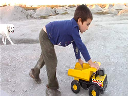 (Playing Plus Digging With Big Toy Trucks At BMX Bike Park)