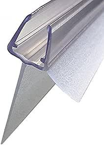 100 cm Agua desagüe Perfil con alargada resistente al refuerzo 25 mm para 6 mm, 7 mm, 8 mm Cristal, transparente para Junta para puerta de ducha cabina de ducha Juntas ducha