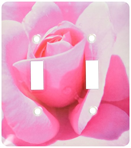 3dRose LLC lsp_31364_2 Pink Petals Rose Floral Flowers Flower Photography Double Toggle Switch